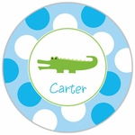 Preppy Alligator Blue Plate