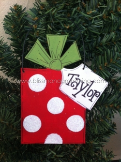 Present with Large Tag<br>Christmas Ornament<br>SOLD OUT!