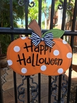 Pumpkin Door Plaque