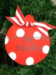 Red Dot Ball<br>Christmas Ornament