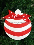 Red Stripe Ball<br>Christmas Ornament<br>SOLD OUT