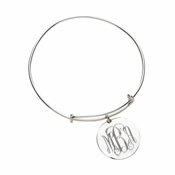 Engraved Charm Bangle