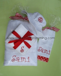 """Sami"" Gift Set<br>(Towel, Washcloths, Hat, Burpcloth)"
