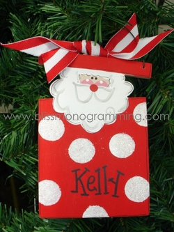 Santa in a Box<br>Christmas Ornament