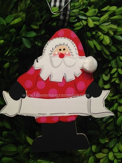 Santa with Banner<br>Christmas Ornament<br>SOLD OUT