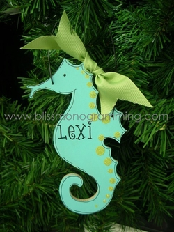 Seahorse<br>Christmas Ornament