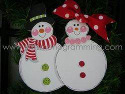Snow Family of 2<br>Christmas Ornament<br>SOLD OUT