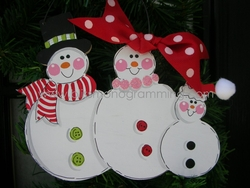Snow Family of 3<br>Christmas Ornament