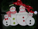 Snow Family of 4<br>Christmas Ornament<br>SOLDOUT