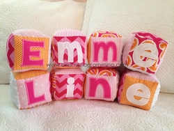 Fabric Baby Name Blocks