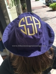 Sun Hat with Top Monogram