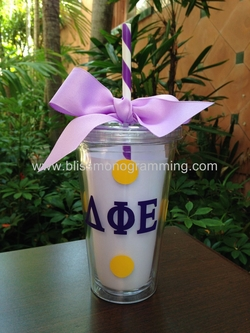Tumbler with Greek Letters