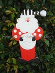 Volleyball Santa<br>Christmas Ornament