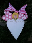 Winged Angel with Heart PINK<br>Christmas Ornament