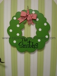 Wreath Door Plaque
