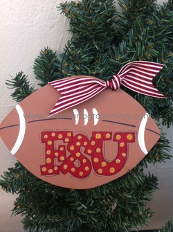 XL Football FSU<br>Christmas Ornament