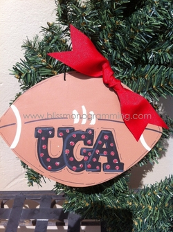 XL Football UGA<br>Christmas Ornament
