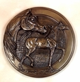 """Classic Arabian Mare and Foal"" Cold Cast Bronze Trophy Wall Plaque"