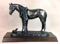"Cold Cast Bronze ""Best Friends"" Trophy Statue"