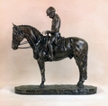 """Dressage Salute"" in Antique Bronze"