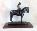 """Dressage Salute"" Trophy in Antique Bronze"