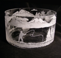 "Large Limited Edition 10"" Etched Bowl"