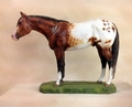 "Full Body Large Size ""Appaloosa"" Statue"