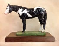 "Full Body Large Size ""Overo Paint Horse"" Trophy"