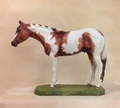 "Full Body Large Size ""Tobiano Paint Horse"" Statue"