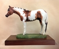"Full Body Large Size ""Tobiano Paint Horse"" Trophy"