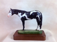 "Full Body Medium Size ""Overo Paint"" trophy"
