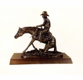 """In The Dirt"" Sliding Reining Horse Trophy"