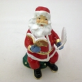 Jeweled Santa Clause w/ Book and Pen