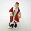 Jeweled Santa Clause w/ Walking Stick and Lamp