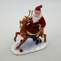 Jeweled Santa on Reindeer