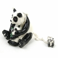 "Kingspoint ""Papa Panda and Baby"" Trinket Box, Necklace"