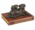 Momma Lab & Puppy Statue