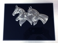 Pewter Four Horse Head Premium Plaque - Log in for quantity pricing of 2 or more trophies.