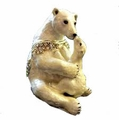 Polar Bear and Cub Jewelry Trinket Box