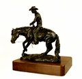 """Sit 'N Spin"" Reining Horse Trophy - Log in for quantity pricing of 2 or more trophies."