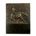 """Ride N' Slide""  Reining Horse Wall Mount Plaque"