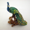 Swarovski Jeweled Peacock On A Branch