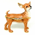 Swarovski Jeweled Red Standing Chihuahua