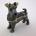 Swarovski Jeweled Salt & Pepper Schnauzer