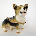 Swarovski Jeweled Sitting Corgi