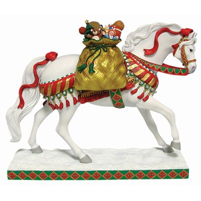 Trail of the Painted Ponies Cowgirl Desk Clock