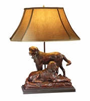 Two Labs Lamp