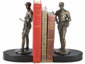 Weigh In Jockey Bookends Bronze & Cherry Finish