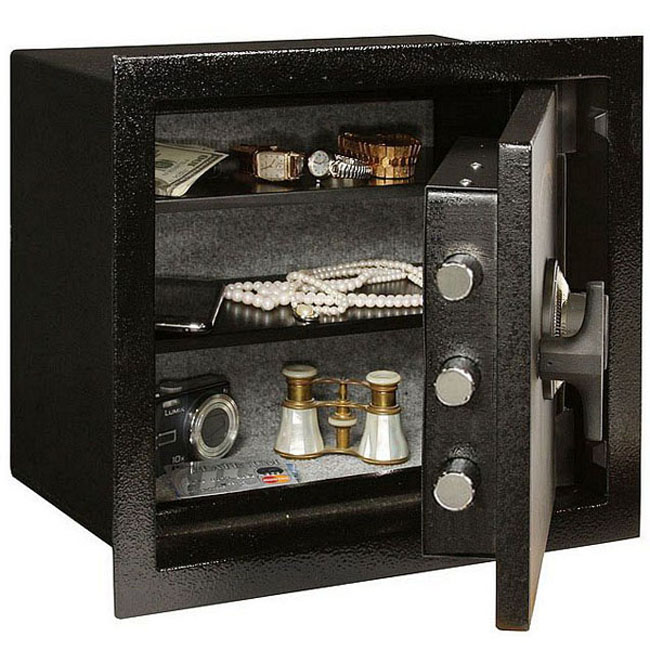 Amsec ws1214e5 cu ft steel burglary rated in wall safe for 1 51 cu ft solid steel digital floor safe