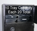 Depository drop safe with money and till tray storage (up to 20 trays) Used